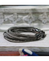 灰色皮手繩