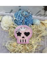 粉紅色骷髏頭匙扣