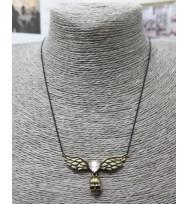 仿鑽骷髏頭頸鏈-古銅色
