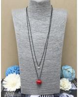 心心頸鏈-紅色