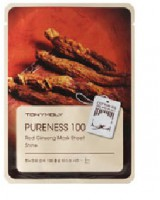 TONYMOLY Pureness 100 Red Ginseng Mask Sheet-Shine 百分百紅蔘精華面膜