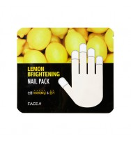 THE FACE SHOP Face it Lemon Brightening Nail Pack 檸檬護甲套膜