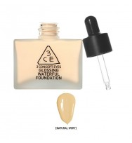 3CE Glossing Waterful Foundation 自然高透潤澤粉底液 SPF15PA+ #Nature Ivory